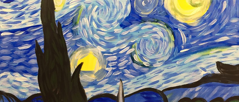 Paint and Wine Night - A Starry Night - Paintvine