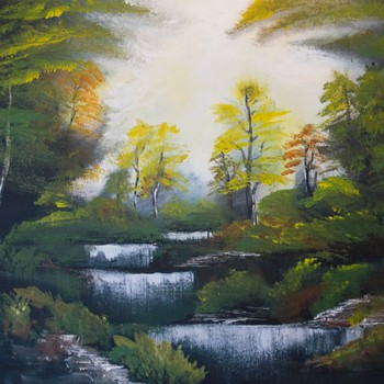 Paint and Wine Night - Bob Ross' Autumn Forest - Paintvine