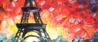 Paint and Wine Night - A Night In Paris - Paintvine