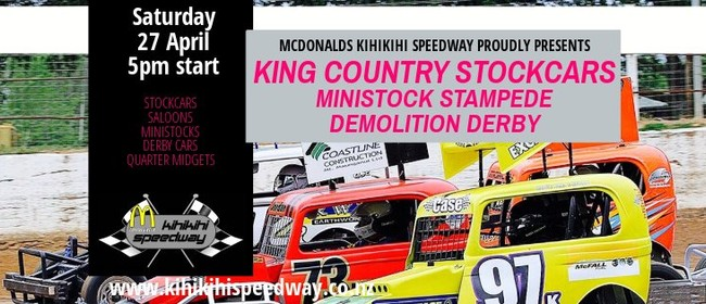 King Country Stockcars - Ministock Stampede - Demo Derby