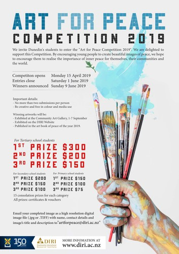 Art for Peace Competition 2019 - Dunedin - Eventfinda