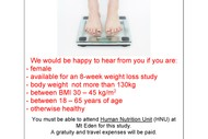 Image for event: Weight Loss Study