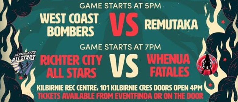Roller Derby Double Header: RCRD All Stars vs Whenua Fatales