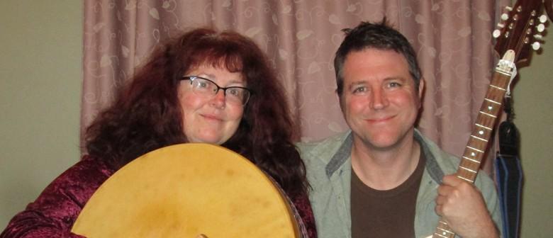 Clare and Nick at Titirangi Folk Music Club