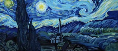 Wine and Paint Party - Starry Night Painting