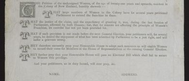 Crowdsourcing history: 1893 Women's Suffrage Petition