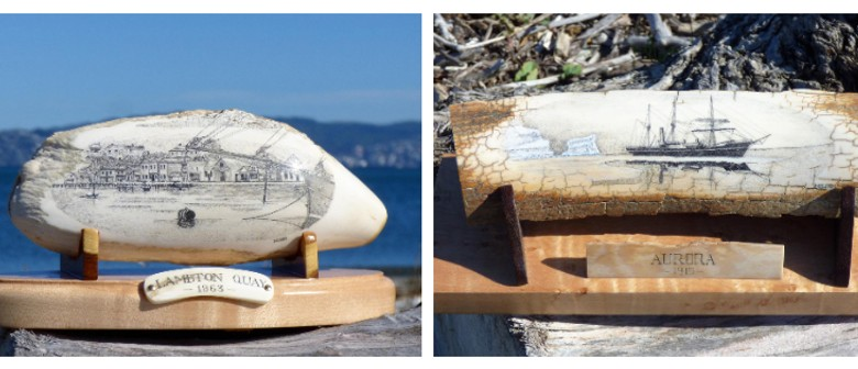 Drawings on Whale Teeth - Scrimshaw Art by Gus Milne