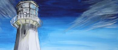Paint and Wine Night - Pencarrow Lighthouse - Paintvine