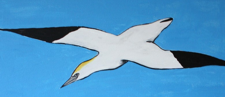Paint and Wine Night - Seagull Over Island Bay - Paintvine