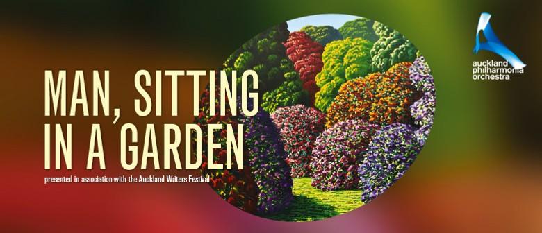 Man, Sitting In a Garden