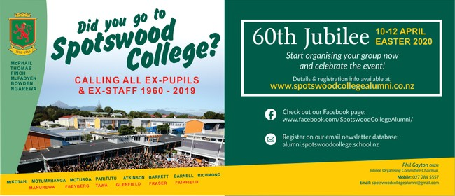 Spotswood College 60th Jubilee/Reunion