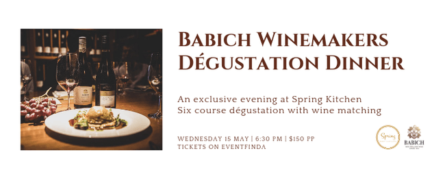 Babich Winemakers Dégustation Dinner