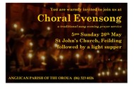 Image for event: Evensong - A Service of Sung Night Prayer