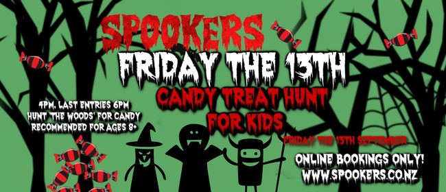 Friday the 13th  Candy Treat Hunt for Kids at Spookers!