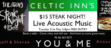 Celtic Inn's Steak Night with You & Me
