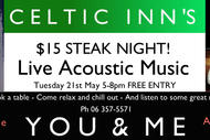 Image for event: Celtic Inn's Steak Night with You & Me