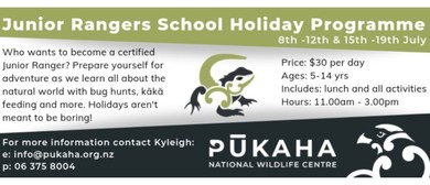 Junior Rangers School Holiday Programme