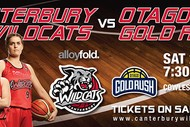 Image for event: Alloyfold Canterbury Wildcats vs Am I Fit Otago Gold Rush