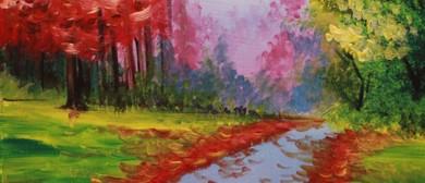 Paint & Chill Night (Auck) - Autumn Tree