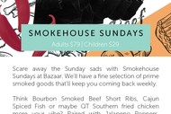 Image for event: Smokehouse Sundays