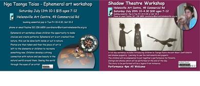 Nga Taonga Taiao Ephemeral Art Workshop & Shadow Theatre