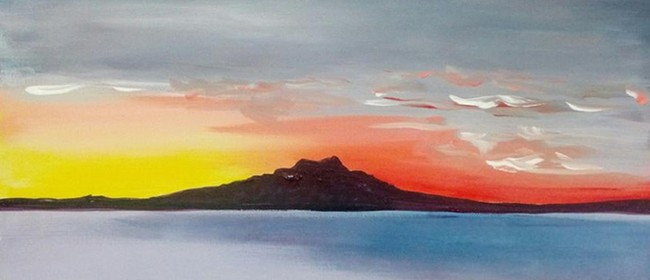 Paint and Wine Night - Rangitoto Sunrise - Paintvine