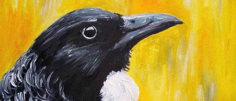 Paint and Wine Night - Kowhai Tui - Paintvine