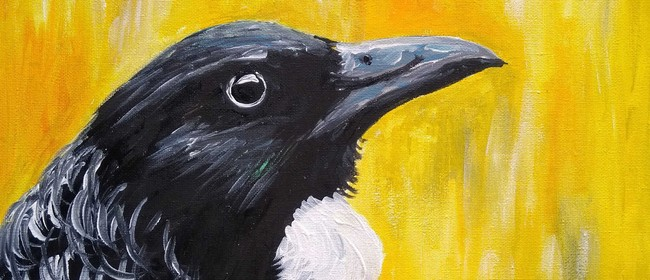 Paint and Wine Night - Kowhai Tui - Paintvine