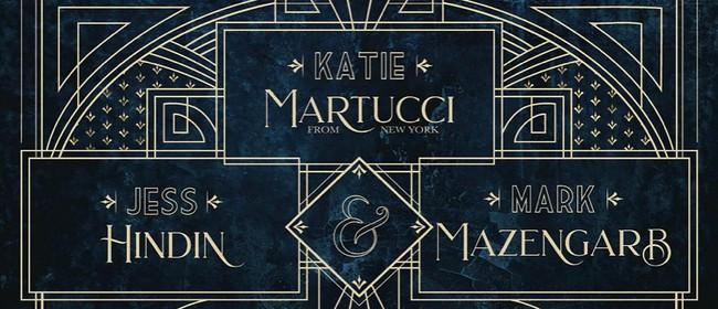 Katie Martucci, Mark Mazengarb and Jess Hindin