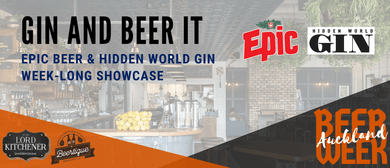 Auckland Beer Week: Gin and Beer It with Epic & Hidden World