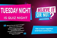 Image for event: Pub Quiz Night - Believe It Or Not Quiz Nights