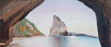 Paint and Wine Night - Cathedral Cove - Paintvine
