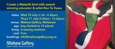Create a Matariki Bird With Artist Ron Te Kawa