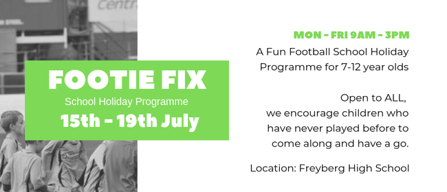 Footie Fix Holiday Programme 7-12 years