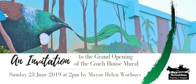 Grand Opening of the Coach House Mural