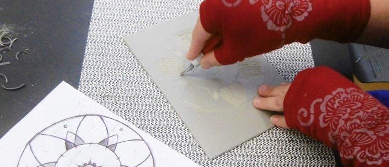 Linocut Printmaking Evening Classes Term 3