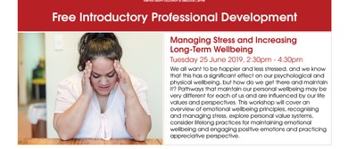 Managing Stress and Increasing Long-Term Wellbeing Workshop