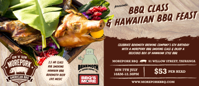 BBQ Class & Hawaiian BBQ Feast with Morepork BBQ