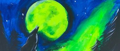 Glow In The Dark Paint Night – Night Wolves – Paintvine