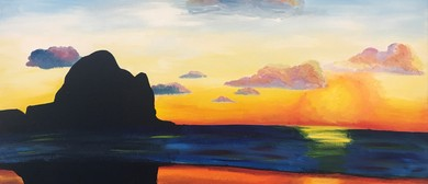 Paint and Wine Night - Piha Sunset - Paintvine