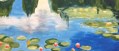 Paint and Wine Night - Monet Water Lilies - Paintvine
