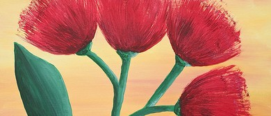 Create Your Own Pohutukawa painting with Heart for Art NZ