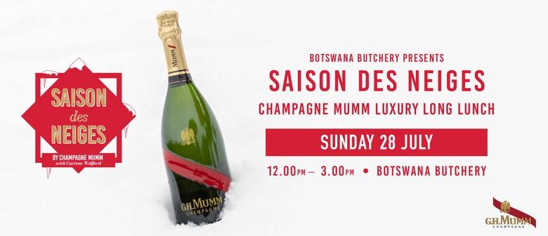 Saison des Neiges Champagne Mumm Luxury Long Lunch