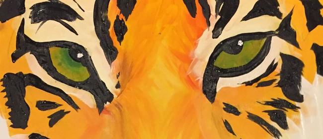 Paint and Wine Night - Tiger - Paintvine