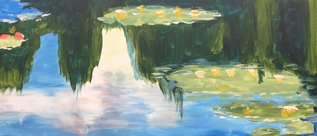 Paint and Wine Night - Monet Waterlilies - Paintvine