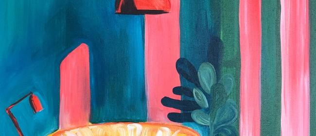 Paint and Wine Night - Retro Living - Paintvine