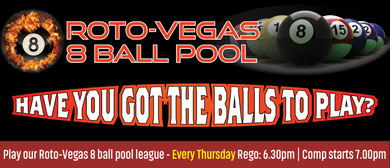 Roto-Vegas 8 Ball Pool - Open Singles Comp