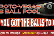 Image for event: Roto-Vegas 8 Ball Pool - Open Singles Comp