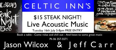 Steak Night ft. Jason Wilcox & Jeff Carr
