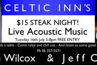 Image for event: Steak Night ft. Jason Wilcox & Jeff Carr